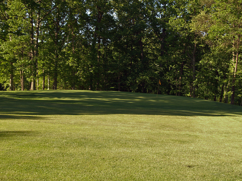 View of first hole toward the green from about 50 yrds out. Click to enlarge