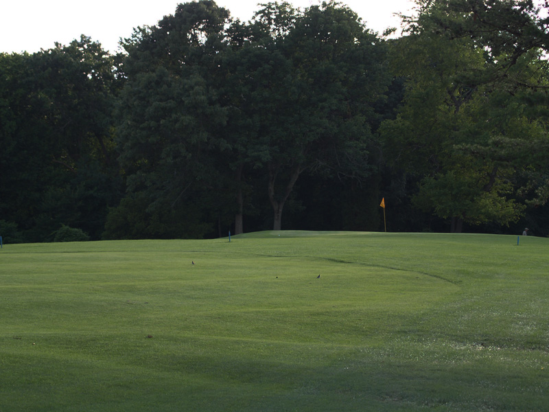 View of tenth hole toward the green from about 150 yrds. Click to enlarge