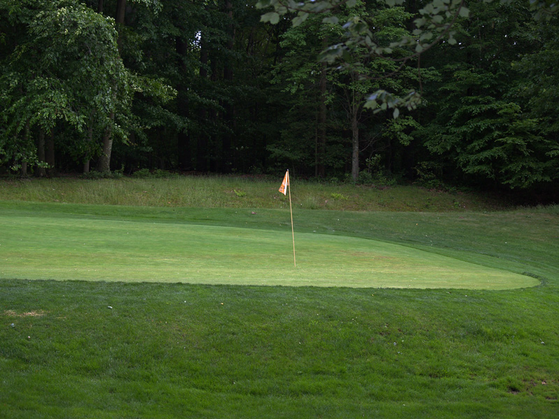 View of seventeenth hole from the left front of green. Click to enlarge