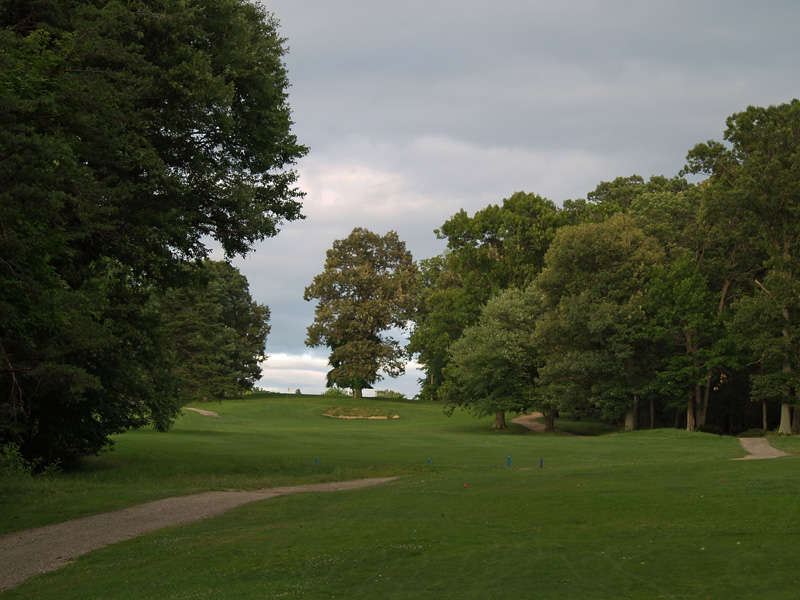 View of eighteenth hole from the tee. Click to enlarge