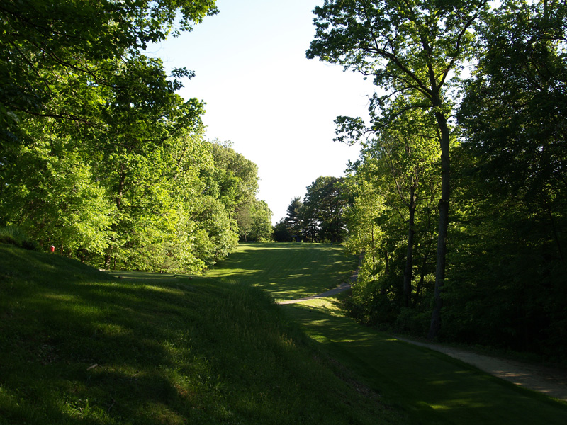View of fourth hole from the tee. Click to enlarge