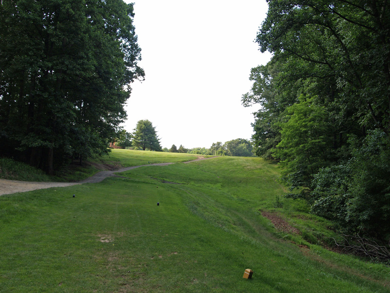 View of sixth hole from the tee. Click to enlarge