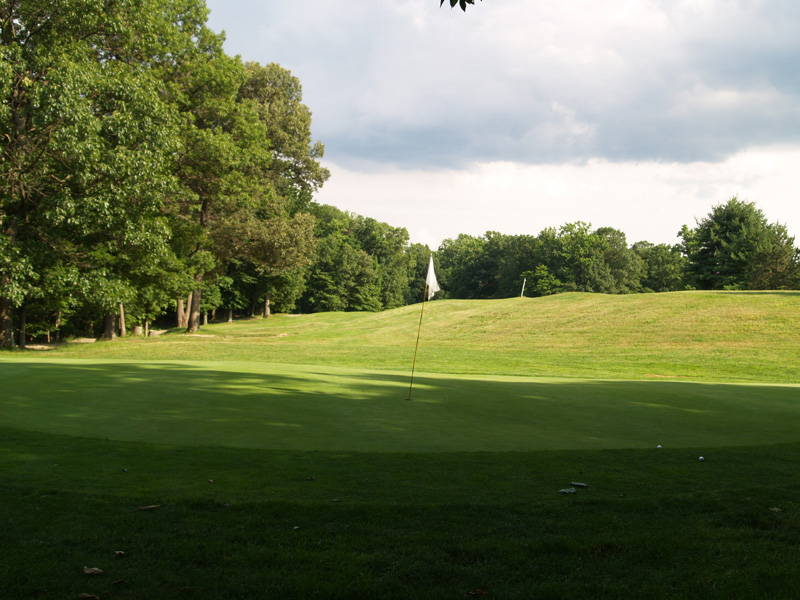 View of sixth hole from behind the green toward the tee. Click to enlarge