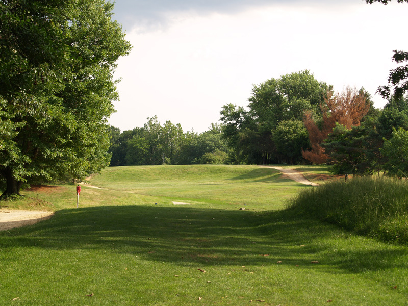 View of seventh hole from the tee. Click to enlarge