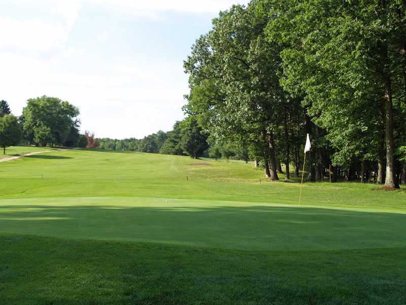 View of seventh hole from behind the green toward the tee. Click to enlarge