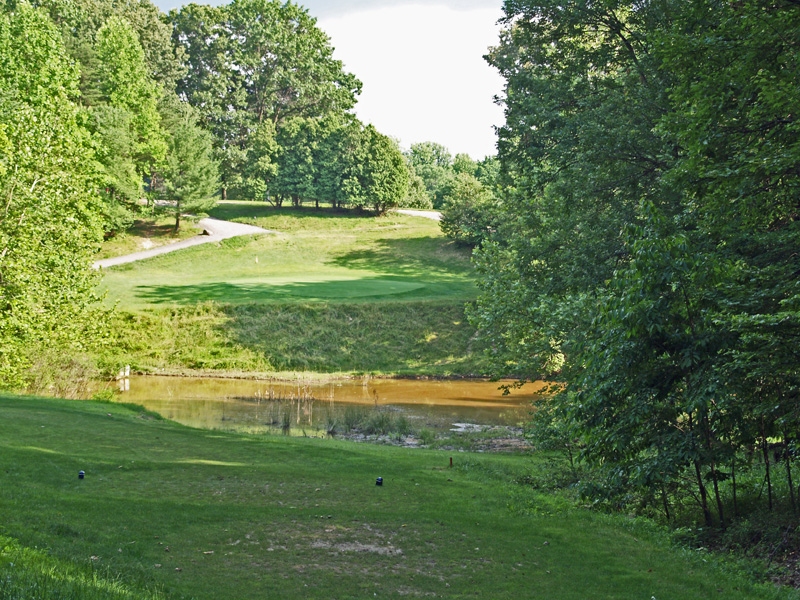 View of eigth hole from the tee. Click to enlarge