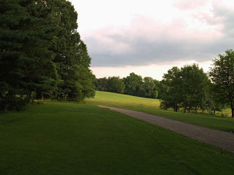 View of nineth hole from the tee. Click to enlarge